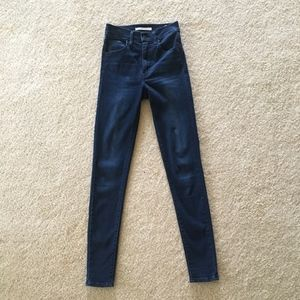 Free People Jeans - Free People by Levi's Mile High Rise Super Skinny